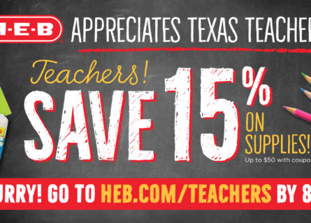 H-E-B to offer teacher appreciation savings in time for back to school - H-E-B Newsroom
