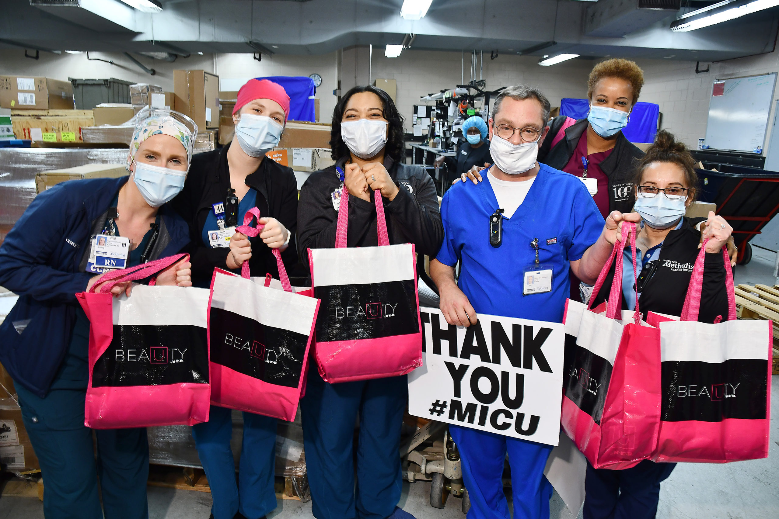 H-E-B surprises hospital workers across Texas with gift bags of beauty essentials - H-E-B Newsroom